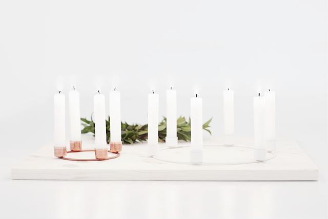Kerzenkranz aus Metallring