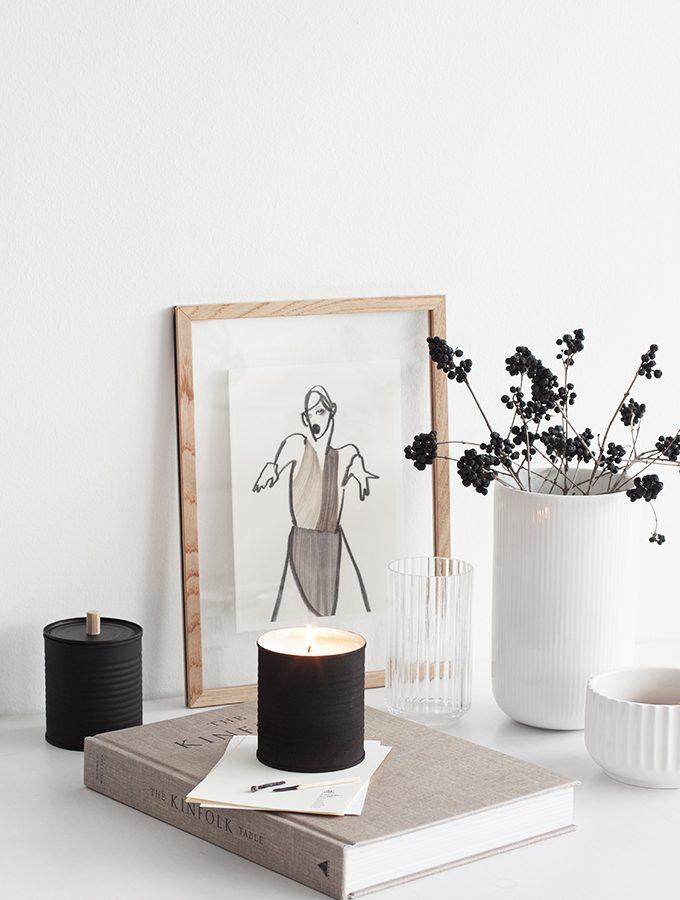 Die Kerze in der heißen Blechdose