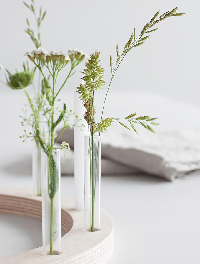 Wiesengräser in Reagenzgläsern