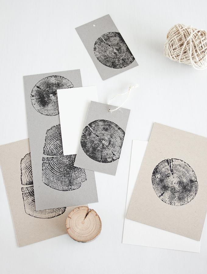 Stempeln mit Holz
