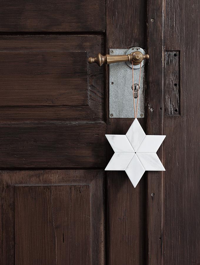 Stern aus Keramikfliesen