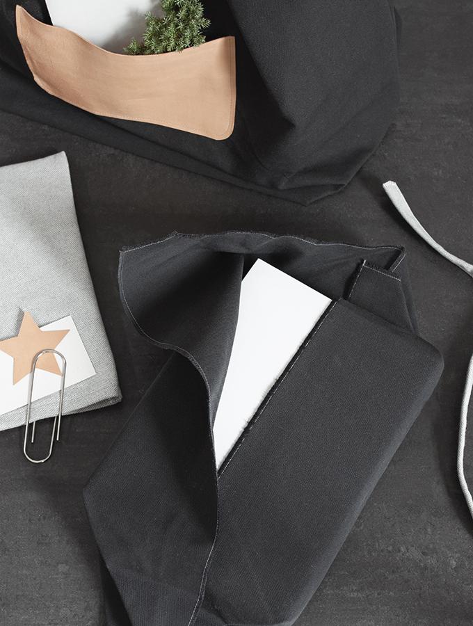 Geschenk mit Stoff einpacken
