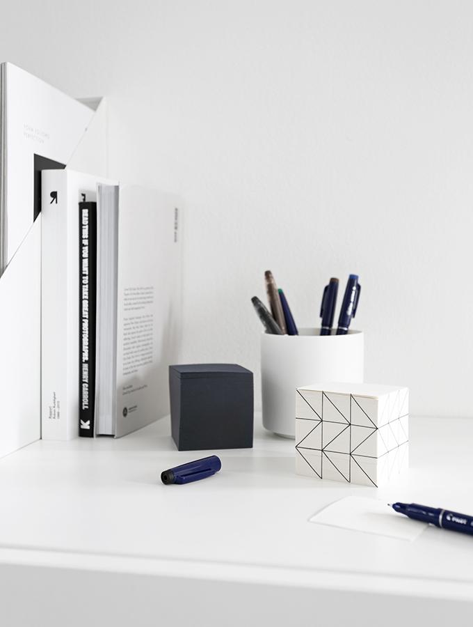 DIY Notizblock mit geometrischem Muster