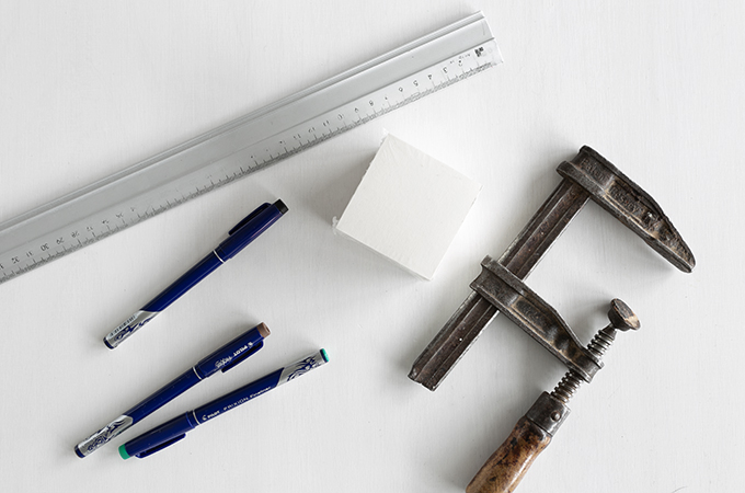 Material für DIY Zettelblock